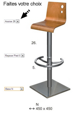 tabouret de bar sur mesure