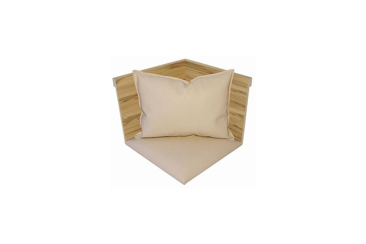 iv angle bois apparent assise tissu coussin. Black Bedroom Furniture Sets. Home Design Ideas