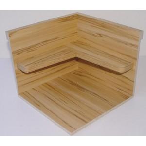 V. Angle bois apparent+étagères