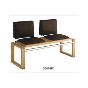Banquette LUX 2 places assise revêtues+dossier réf. S 607/BO