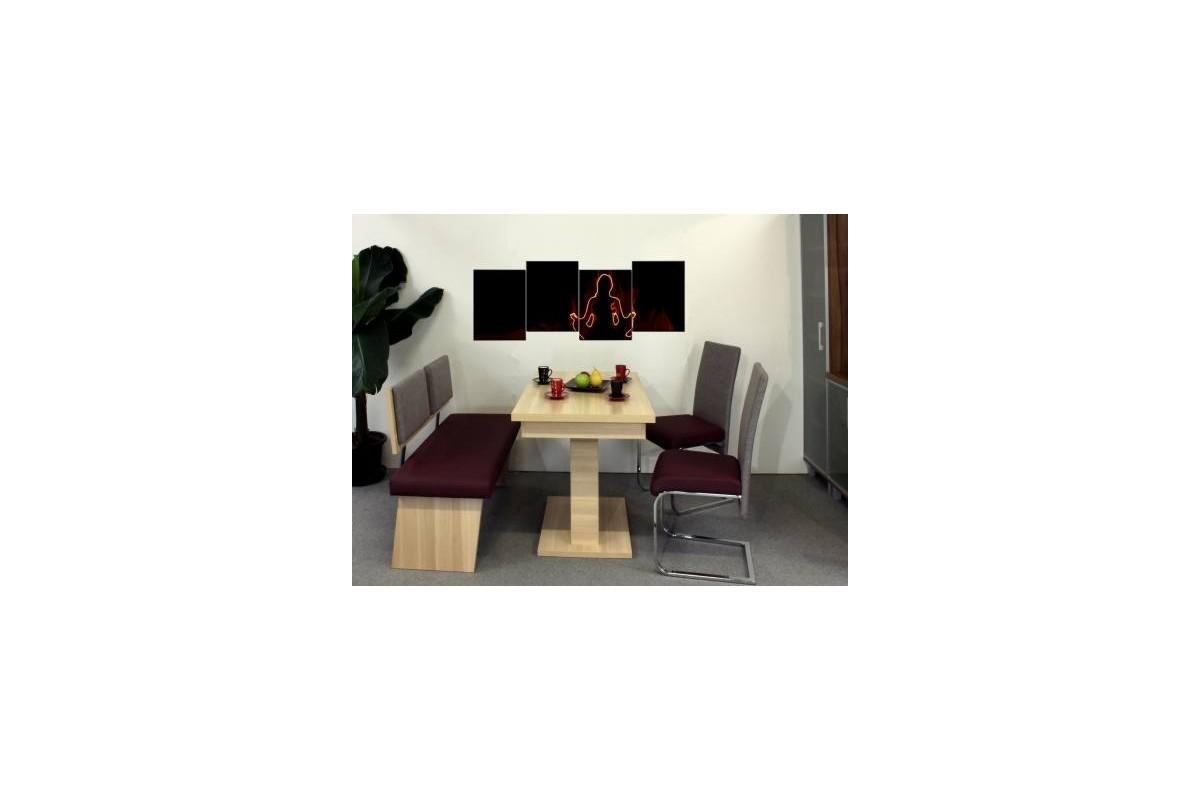 ensemble kreta banquette table. Black Bedroom Furniture Sets. Home Design Ideas